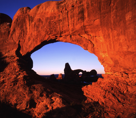 North Window Arch.