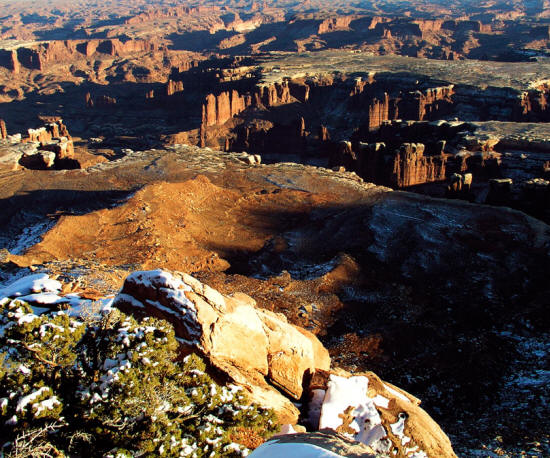 Monument Basin in Canyonlands National Park