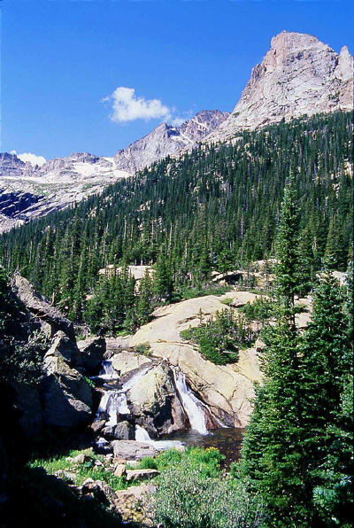 Glacier Basin waterfall