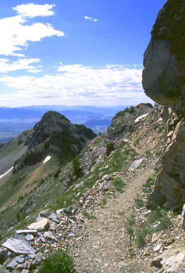 Teton Crest Trail below Static Peak
