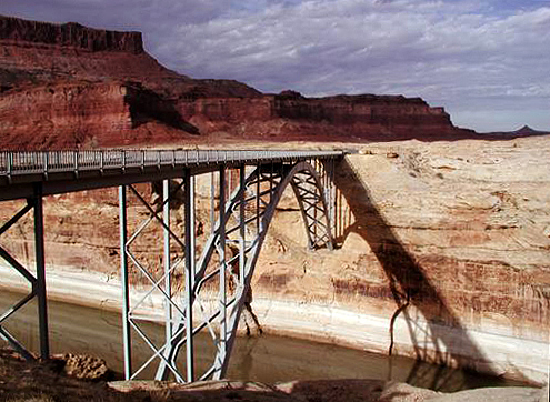 Highway 95 Bridge over Dirty Devil River at Hite, UT