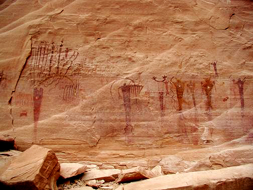 Pictographs in Buckhorn Wash