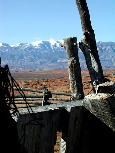 Corral in Burr Desert, Utah