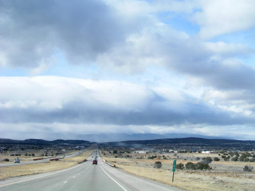 Approaching Albuquerque on I-40 west bound
