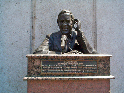 Close-up of Jack Buck bust